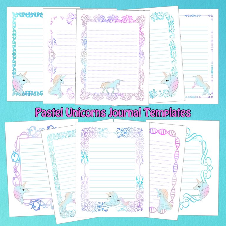 Pastel Unicorns Templates