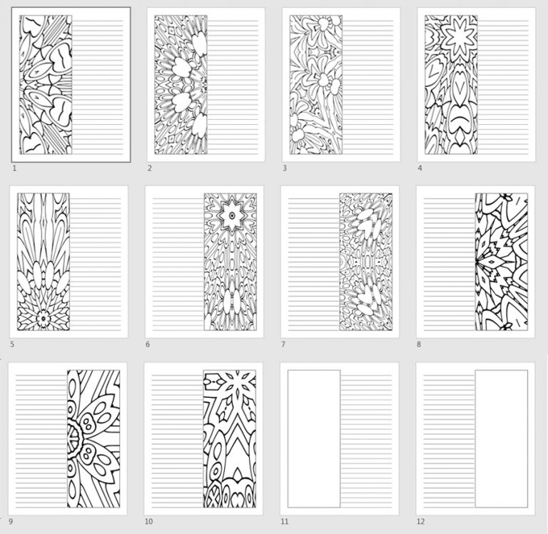 Pattern Templates Left & Right