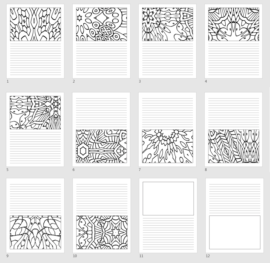 Pattern Templates Top & Bottom