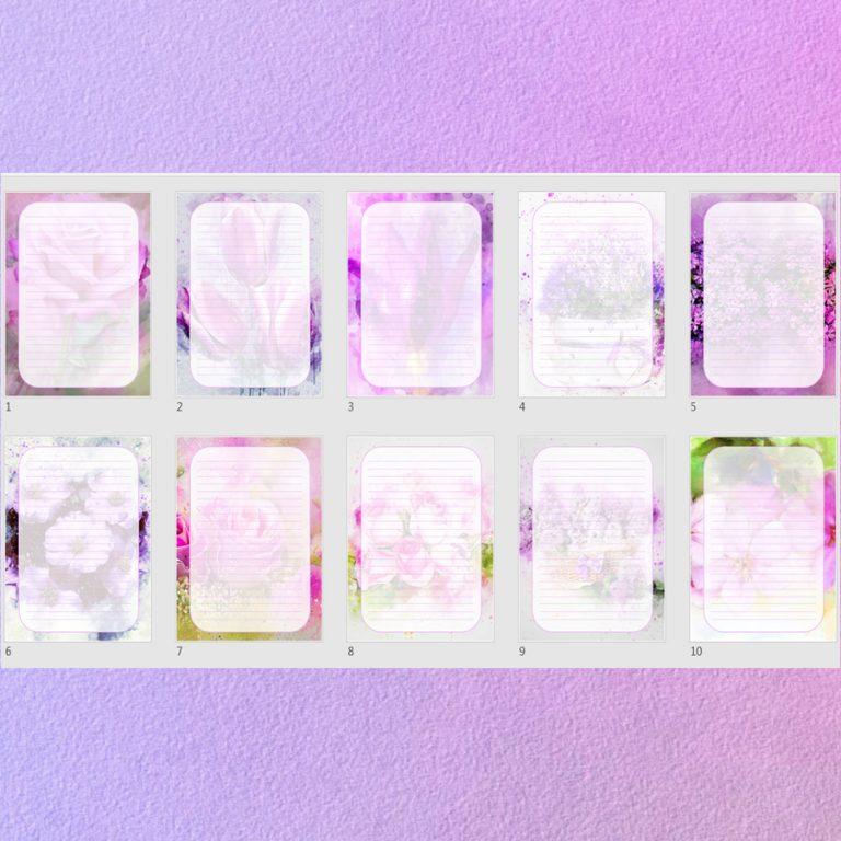 Lavender Journal Templates