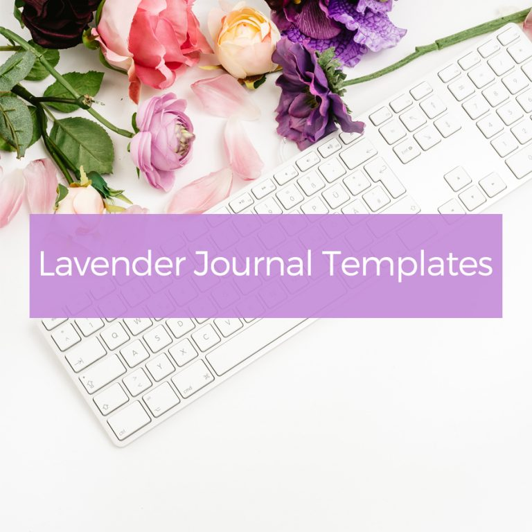 Lavender Journal Templates
