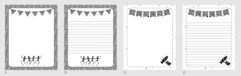 Halloween Journal Templates