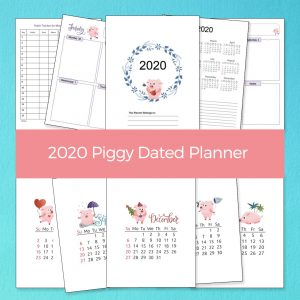 2020 Piggy Dated Planner