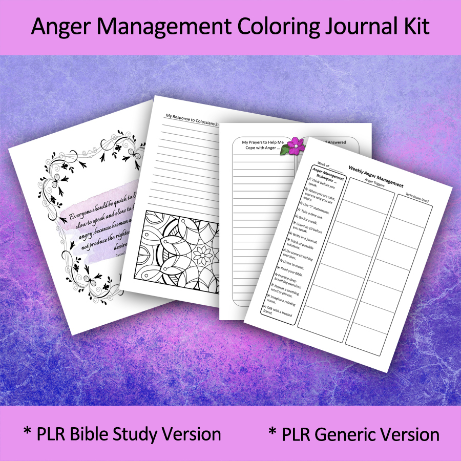 anger management coloring journal