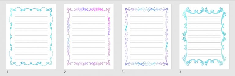 lined templates