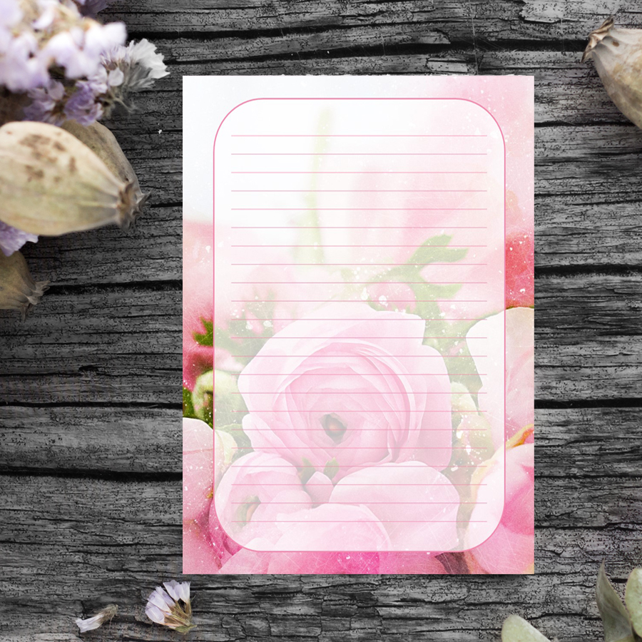Rose Journal Template
