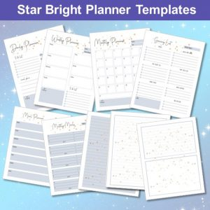 Star Bright Planner Mockup