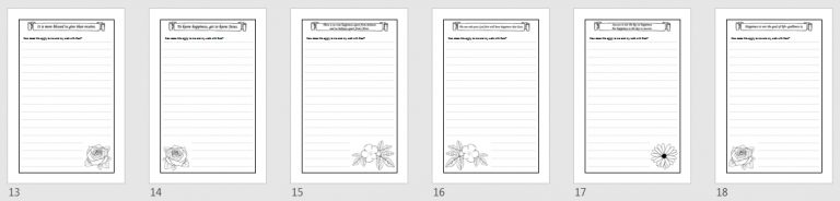 Bible Happiness Affirmations Templates