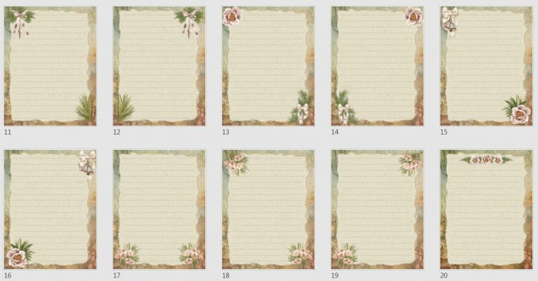 Vintage Boho Journal Papers Pack 4
