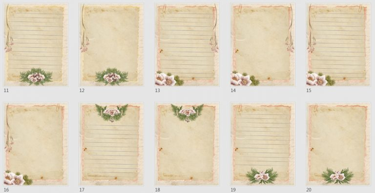 Vintage Boho Journal Papers Pack 1