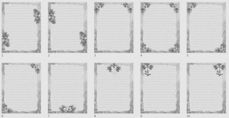 Vintage Boho Journal Papers Pack 4 grayscale