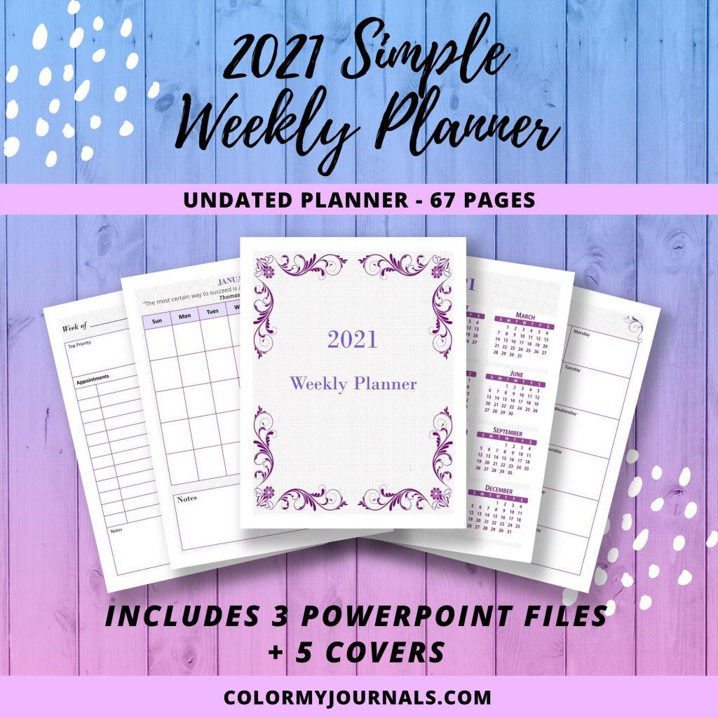 2021 Simple Weekly Planner