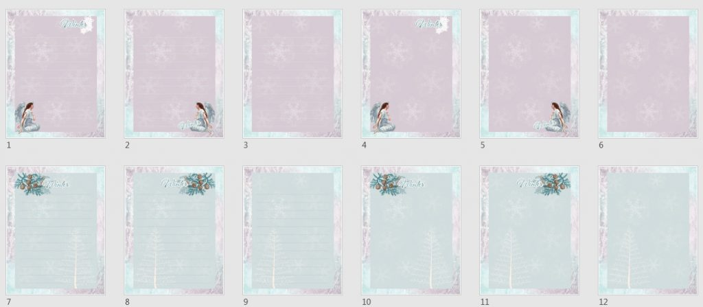 Angels & Snowflakes Paper Pack 1