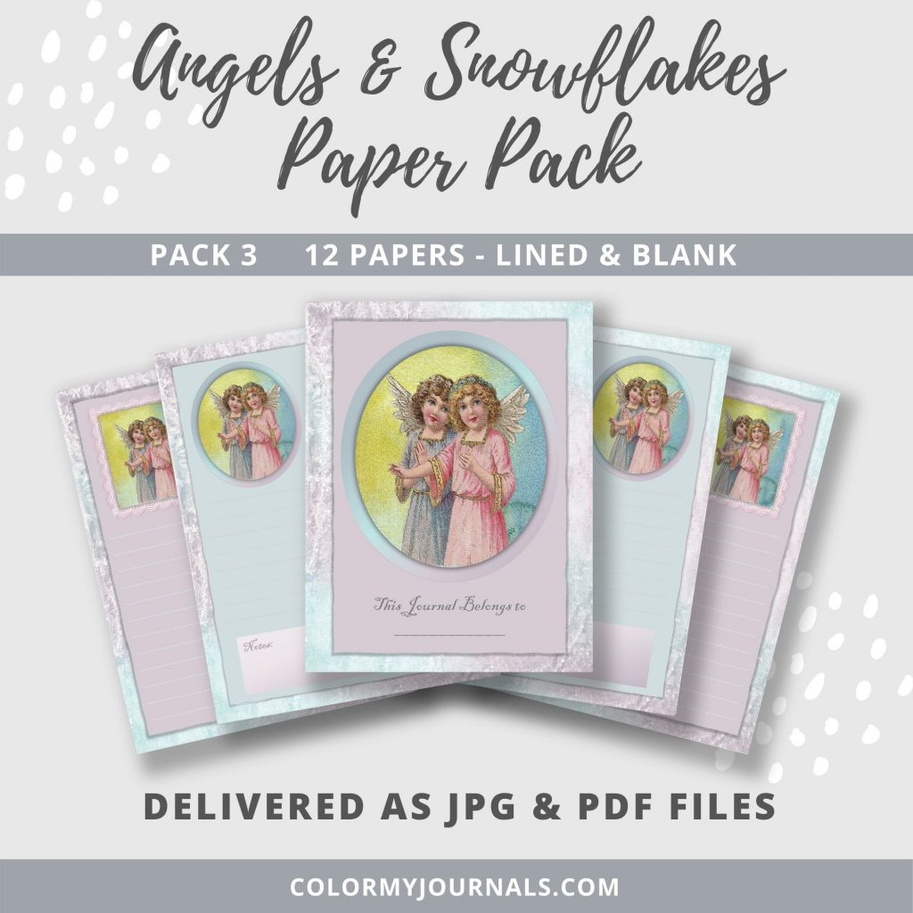 Angels & Snowflakes Paper Pack 3