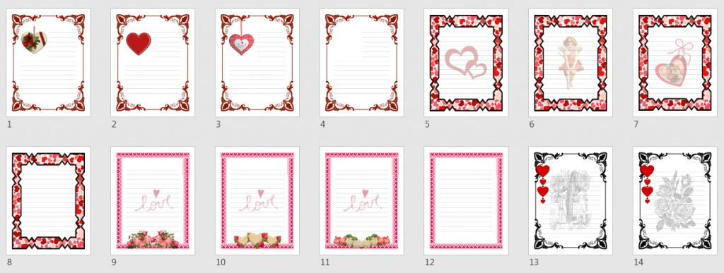 Valentine Stationery