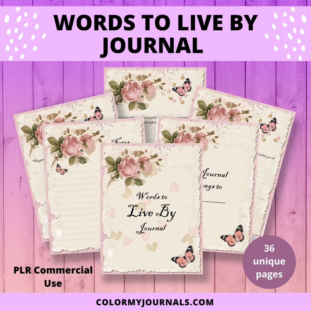 words to live by quotes journal printable